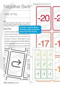 Card Game Bundle 5 | 5 Games for Basic Math - Rearranging Equations, etc.
