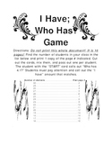 Card Game: I Have / Who Has - Fractions, Mixed Numbers, Decimals