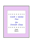 Card Game * Pac For French Class