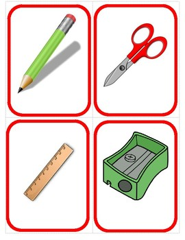 ¿Me dejas un lápiz? (School Items) - Card Game