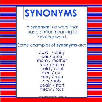 Card Game:  September Synonyms