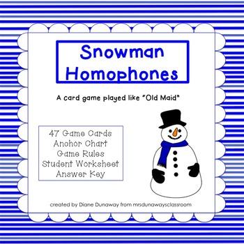 Card Game:  Snowman
