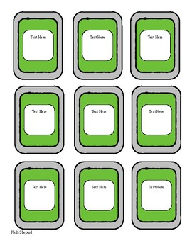 card game template teaching resources teachers pay teachers