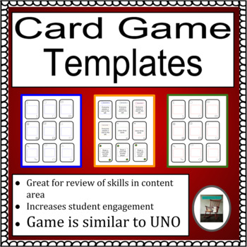 Card Game Templates, Similar to UNO