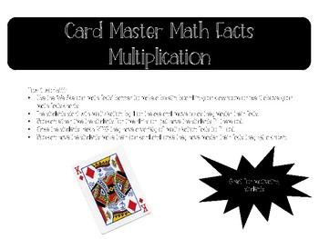 Card Master Multiplication Fact Drills
