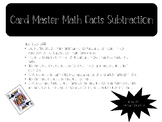 Card Master Subtraction Math Facts Drills