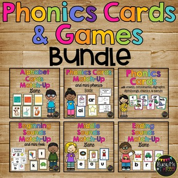 Card Match Up Games and Phonics Cards SET {Letters and Sounds}