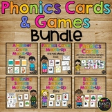 Phonics Games BUNDLE Card Match Up Letters and Sounds