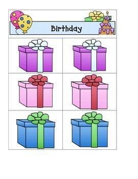 Card Matching- Birthday