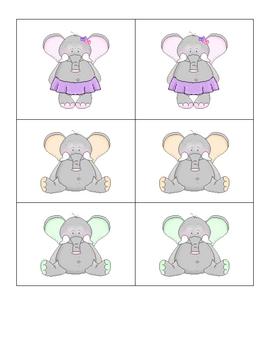 Card Matching- Elephants