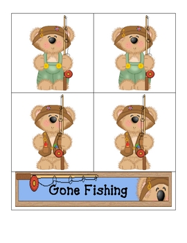 Card Matching- Gone Fishing