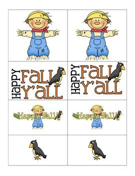 Card Matching- Happy Fall Y'all