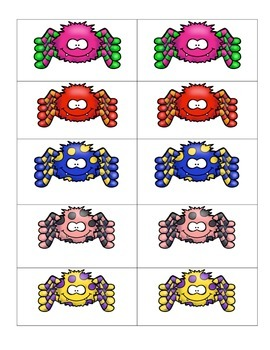 Card Matching- Spider Bright