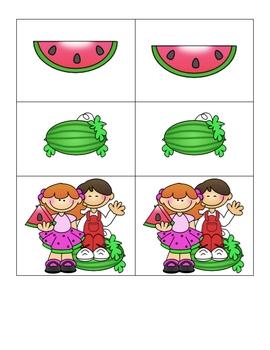 Card Matching- Wonderful Watermelons