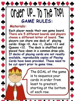 Card Math Games for Everyday ~ Kindergarten and Grade 1
