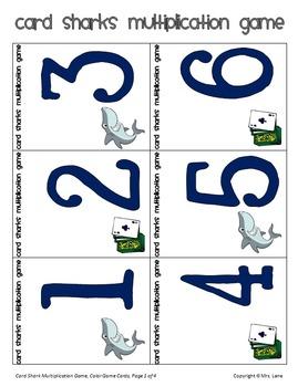 Card Sharks Multiplication Game