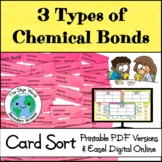 Card Sort Activity - 3 Types of Chemical Bonds