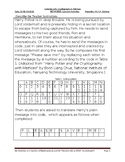 Card Sort Activities for CyberSecurity, Cryptography & Matrices by FARankine