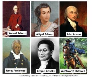 Card Sort - American Revolution & Constitution People