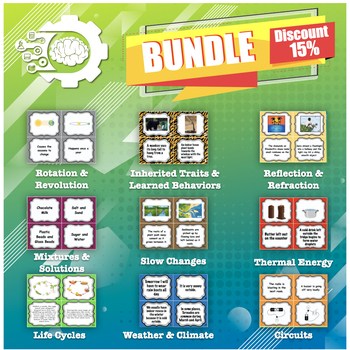 Card Sort: Science Bundle (perfect for STAAR review)