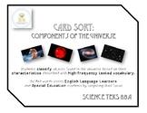 Card Sort - Characteristics of the Universe (Star, Nebula,