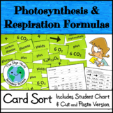 Card Sort - Photosynthesis & Cellular Respiration Formulas
