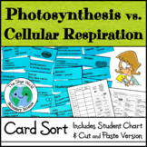Card Sort Activity - Photosynthesis vs. Cellular Respiration