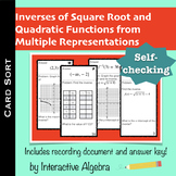 Card Sort - Square Root and Quadratic Inverses from Multiple Representations
