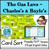 Card Sort Activity - The Gas Laws - Charles's and Boyle's Laws