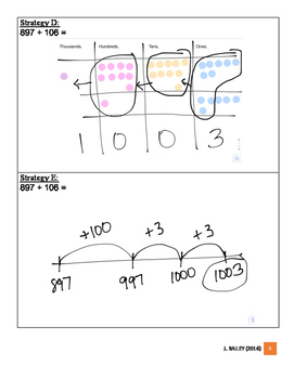 Card Sort for Addition and Subtraction Strategies