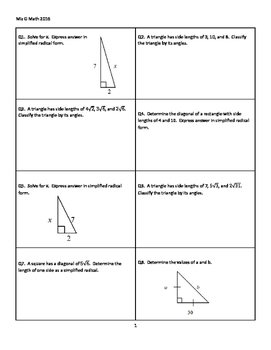 Card Stack--Right Triangle Relationships
