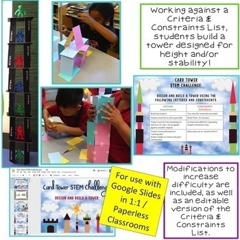 Card Tower STEM Challenge Mini Bundle - PAPERLESS VERSION