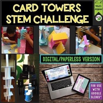 Card Tower STEM Challenge Mini Bundle - PAPERLESS VERSION