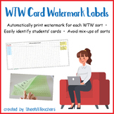 Card Watermark Labels for Words Their Way