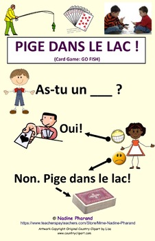 Card game: PIGE DANS LE LAC ! (Go Fish, in French)
