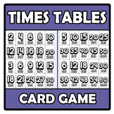 Card game - Times tables - Tablas de multiplicar