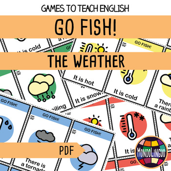 Card game to teach English/ESL: Go Fish about the weather
