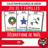 Card game to teach French/FFL/FSL: 7 familles - Couleurs et Noël/Christmas