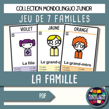 Card game to teach French/FFL/FSL: 7 familles - Couleurs et famille/Family