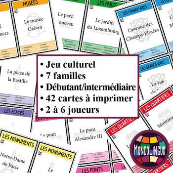Card game to teach French/FFL/FSL: 7 familles sur Paris