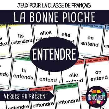 Card game to teach French/FFL/FSL: Bonne pioche - Entendre/To hear