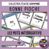 Card game to teach French/FFL/FSL: Bonne pioche - Mots questions/questions