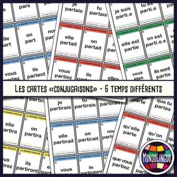 Card game to teach French/FFL/FSL: Bonne pioche - Partir/to leave