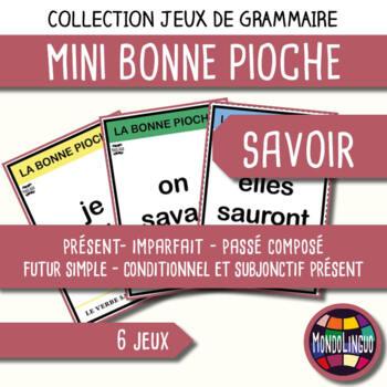 Card game to teach French/FFL/FSL: Bonne pioche - Savoir/To know