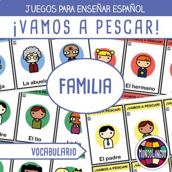 Card game to teach Spanish/ELE: Vamos a pescar - La famili