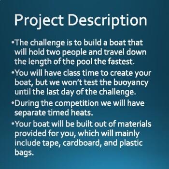 Cardboard Boat Project