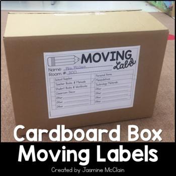 Cardboard Box Moving Labels