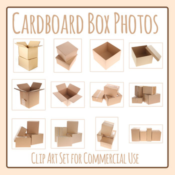 Cardboard Boxes Photos / Photograph Clip Art for Commercial Use
