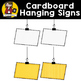 Cardboard Hanging Signs {Clip Art for CU}