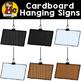 Cardboard Hanging Signs {Clip Art for CU}
